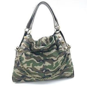 🚫SOLD🚫XL Canvas Camo Hobo Shoulder Bag NEW